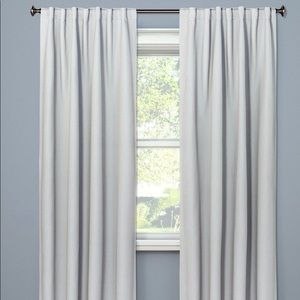 Threshold Grey Check Blackout Curtains